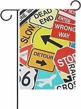 ALAZA Traffic-Verkehrsschilder Dekorative