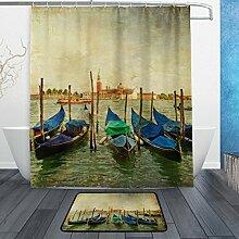 ALAZA Venetianische Gondeln Vintage Malerei