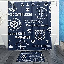 ALAZA Vintage Anchor Marine Duschvorhang 60 x 72