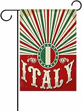 ALAZA Vintage Old Italienische Flagge Polyester