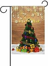 ALAZA Weihnachtsbaum Dekorative Garten Flagge