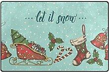 ALAZA Weihnachtsbaum Stocking Glocke Schneeflocke