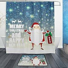 ALAZA Weihnachtsmann-Schneeflocke Stern