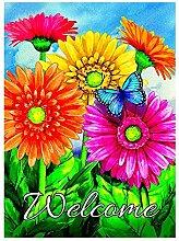 Alaza Welcome Blumen Schmetterling Sonnenblume