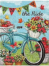 Alaza Welcome Flowers Fahrrad Butterfly Daisy