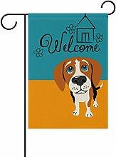 ALAZA Willkommen Beagle-Hund Dekorative