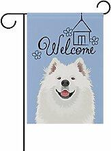 ALAZA Willkommen Samojeden Hund Dekorative