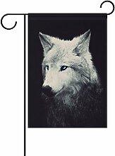 ALAZA Wolf Dekorative Doppelseitige Garten Flagge