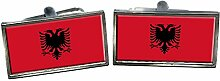 Albania Flagge Männer-Geschenk Manschettenknöpfe