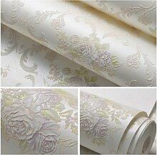 Albeey Blume Tapete Vintage Geprägte Tapete Für