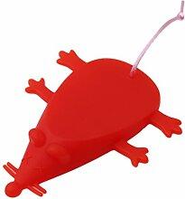 Albeey Gummi Türstopper Silikon-Tür-Stopper-Keil-Finger-Schutz Niedlicher Maus Form Türstopper für Balkontür, Badezimmer, Kinderzimmer, Terrassentür, Glastür, Haustür (rot)