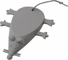 Albeey Gummi Türstopper Silikon-Tür-Stopper-Keil-Finger-Schutz Niedlicher Maus Form Türstopper für Balkontür, Badezimmer, Kinderzimmer, Terrassentür, Glastür, Haustür (grau)