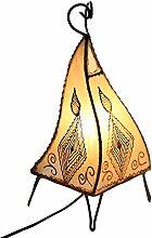 albena marokko galerie 12-102 Chey marokkanische Lampe 36cm Leder / Henna natur