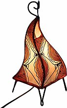 albena marokko galerie 12-102 Chey marokkanische Lampe 36cm Leder / Henna orange