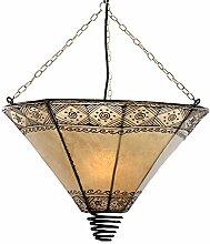 albena Marokko Galerie 13-143 Vido Lampenschirm orientalische Lampe Leder Henna natur