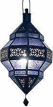 albena Marokko Galerie 13-157 Trob orientalische Lampe Glas/Metall (blau)