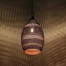 albena shop 71-5682 Basca orientalische Lampe Draht H 26cm x ø 18cm (Kupfer / Zink)
