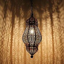 albena shop 71-5731 Govi orientalische Lampe H 50cm / ø 20cm (schwarz)schwarz / gold