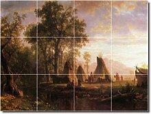 Albert Bierstadt Indianer Badezimmer Fliesen Wand 7. 45,7x 61cm mit (12) 6x 6Keramik Fliesen.