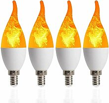 ALBN LED Flamme Lampe Flackerkerze E14 bewegliche
