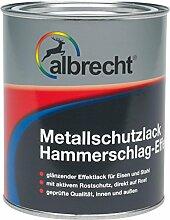 Albrecht Metallschutzlack Hammerschlag-Effekt 0010 750 ml, dunkelgrün, 3400606750001000750