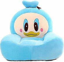 albrose Kinder PP Baumwolle Plüsch Cartoon Spielzeug Sofa Animal Stühle für Kinder Geschenk Blue Duck
