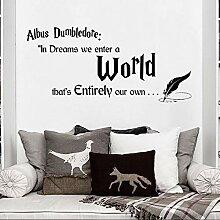 Albus Dumbledore Quote Wandaufkleber Kinderzimmer