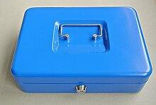 ALCO 841 Geldkassette Safe Tresor 14x19cm , Farbe:blau, Größe:14 x 19cm