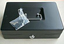 Alco Metall Geldkasette 15 x 19cm Safe Tresor Kasse grau