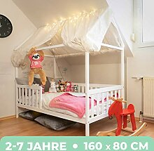 Alcube Hausbett 160x80 cm - stabiles Kinderbett