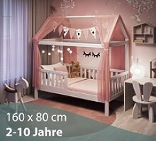 Alcube Kinderbett, Alcube Hausbett 160x80 cm -