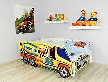 Alcube | Kinderbett Auto-Bett Betonmischer | 140 x