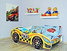 Alcube | Kinderbett Auto-Bett Crazy Taxi | 160 x