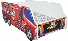 Alcube | Kinderbett Auto-Bett Feuerwehr | 140 x 70