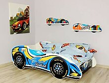 Alcube | Kinderbett Auto-Bett Formel 1 - Bluebird