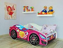 Alcube | Kinderbett Auto-Bett Pink | 140 x 70 cm |