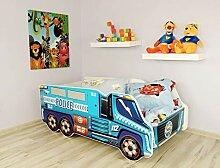 Alcube | Kinderbett Auto-Bett Police | 140 x 70 cm
