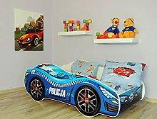 Alcube Kinderbett Auto-Bett Polizei 140 x 70 cm