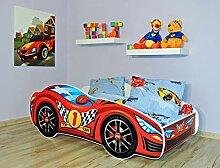 Alcube Kinderbett Auto-Bett Red 140 x 70 cm mit