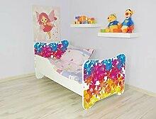 Alcube   Kinderbett Blümchen   140 x 70 cm   mit