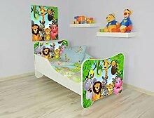Alcube   Kinderbett Dschungelparty   160 x 80 cm  