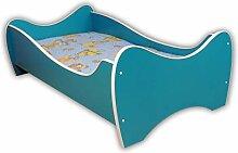 Alcube Kinderbett Turquoise Swing 140 x 70 cm mit