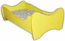 Alcube   Kinderbett Yellow Swing   140 x 70 cm  