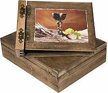 Aldecor Holzalbum in Geschenkbox Holzkiste 75