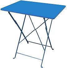 alenti Metall Tisch Klapptisch 110x70cm blau Blue