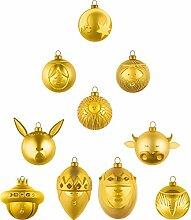 Alessi Weihnachtskugeln, Gold