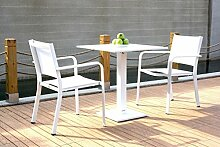 alfa Alu Gartenmöbel Bistroset Ibiza 2 - weiß