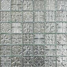 ALFA-CER Mozaik, Glas, Chrom Metallic, 29.8 x 29.8