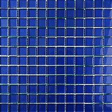 ALFA-CER Mozaik, Glas, Dunkelblau Metallic, 29.8 x