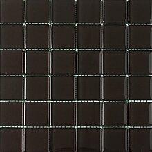 ALFA-CER Mozaik, Glas, Dunkelbraun Metallic, 29.8